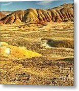 Endless Painted Hills Metal Print