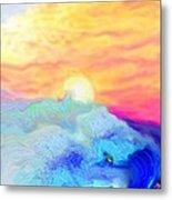Endless Sea At Sunrise Metal Print