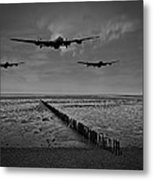 Enemy Coast Ahead Skipper Black And White Version Metal Print