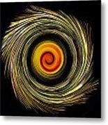 Energy Strands Metal Print