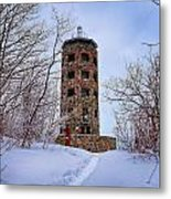 Enger Tower In Winter Metal Print