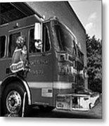 Engine 751 Bw Metal Print