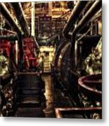 Engine Room Queen Mary 02 Sepia Metal Print