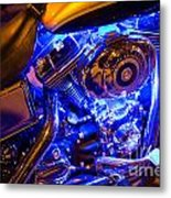 Engine Shimmer Metal Print