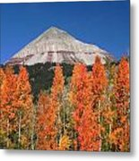 2d10688-engineer Mountain In Fall  Metal Print