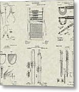 Engineering Tools Patent Collection Metal Print
