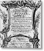 England: Cupper, 1700s Metal Print by Granger
