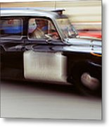England, London, Moving Cab Metal Print