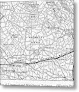 England Railroad Map Metal Print