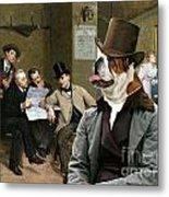 English Bulldog Art - The Latest News Metal Print