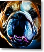 English Bulldog - Electric Metal Print by Wingsdomain Art and Photography