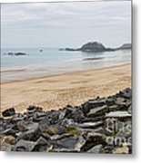 English Channel Beach Metal Print