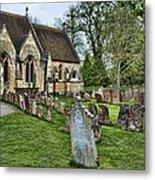 English Church Yard Metal Print