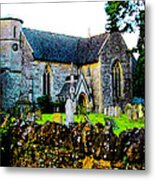 English Churchyard Metal Print