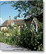 English Country Cottage Metal Print
