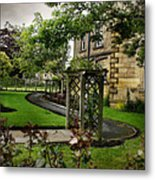 English Country Garden And Mansion - Series IIi. Metal Print