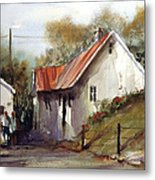 English Country Lane Metal Print