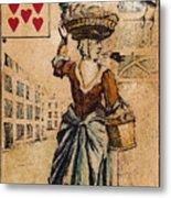 English Playing Card, C1754 Metal Print