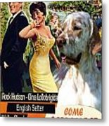 English Setter Art Canvas Print - Come September Movie Poster Metal Print