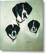 English Setter Momma And Pups Metal Print