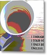English Tea Metal Print