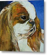 English Toy Spaniel Metal Print by Michael Creese