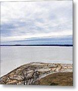 Enid Lake - Winter Landscape Metal Print
