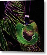 Enigma Emerald. Black Art Metal Print by Jenny Rainbow