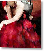 Enigma Of A Geisha - Abstract Realism Metal Print