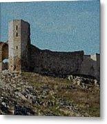 Enisala Fortress Canvas Metal Print