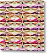 Enjoy Bliss Of Artistic Sensual Aura Lips  Kiss Romance Pattern Digital Graphic Signature   Art  Nav Metal Print