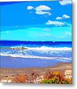 Enjoy The Blue Sea Metal Print