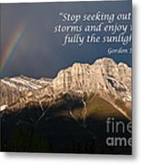Enjoy The Sunlight Metal Print