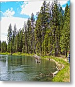 Enjoying Des Chutes River In Des Chutes Nf-or Metal Print