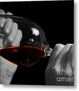 Enjoying Wine Metal Print by Patricia Hofmeester