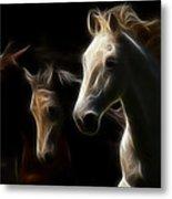 Enlightened Equestrian Metal Print