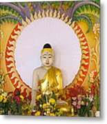 Enlightened Buddha Sitting Under The Bodhi Tree Metal Print