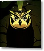 Enlightened Owl Metal Print