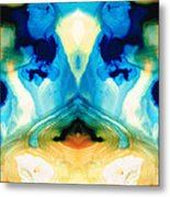 Enlightenment - Abstract Art By Sharon Cummings Metal Print