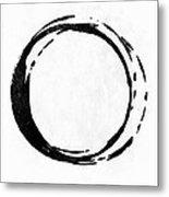 Enso No. 107 Black On White Metal Print
