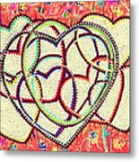 Entangled Hearts Metal Print