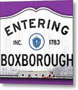 Entering Boxborough Metal Print