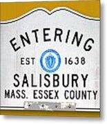 Entering Salisbury Metal Print