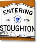 Entering Stoughton Metal Print