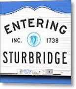 Entering Sturbridge Metal Print