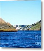 Entering The Narrows Near Fort Amherst Rock By Barbara Griffin Metal Print