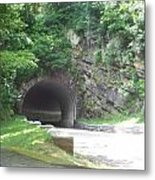 Entering The Tunnel  Metal Print