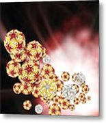 Enterovirus Particles Metal Print