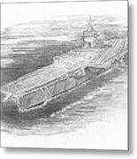 Enterprise Aircraft Carrier Metal Print