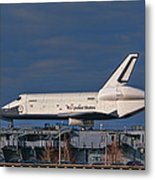 Enterprise At The Intrepid Metal Print